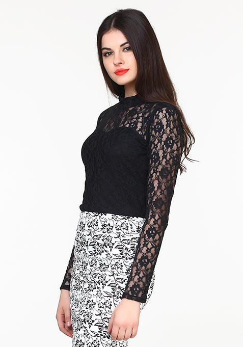 Totally Laced Top - Black