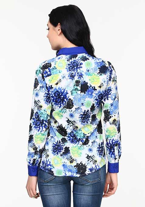 Blue Blooms Shirt