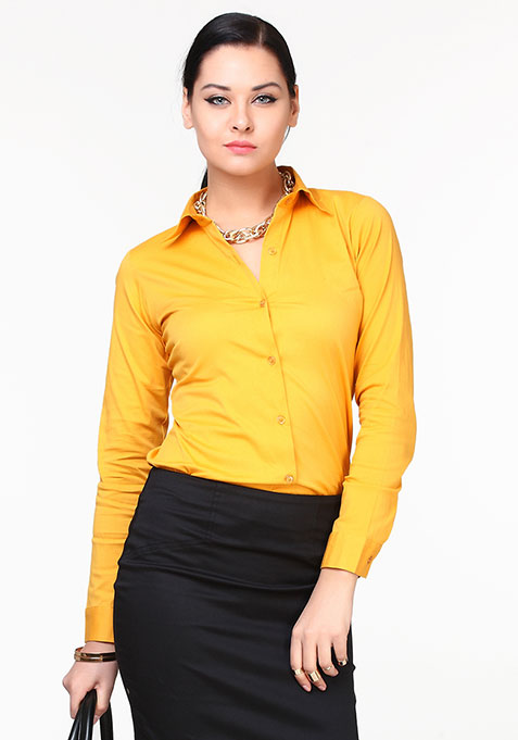 Step Ahead Cotton Shirt - Yellow
