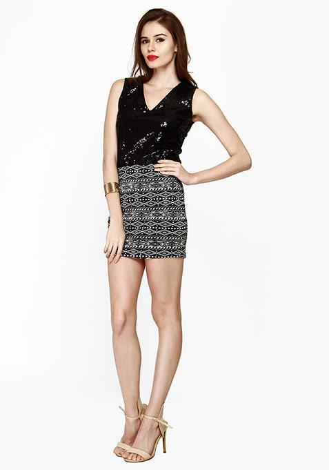 Sequin Shine Top - Black
