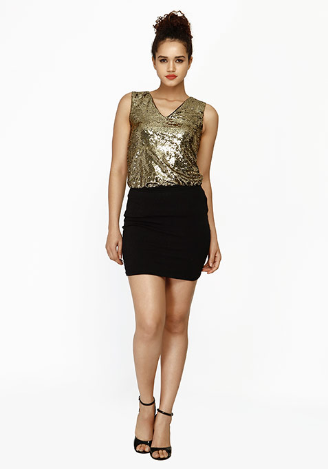 Sequin Shine Top - Copper