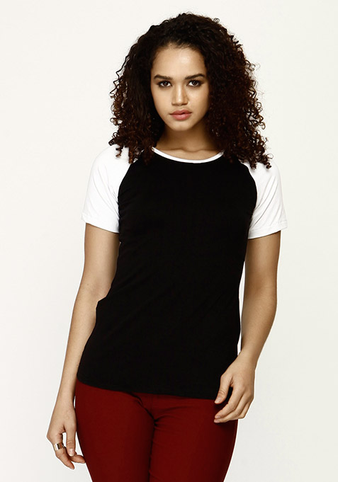Uber Cool Baseball Tee - Black