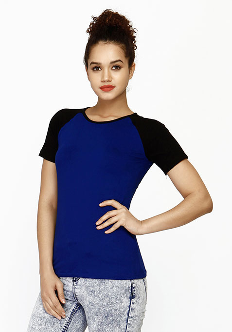 Uber Cool Baseball Tee - Blue