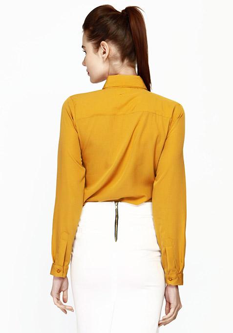 Ruffles Rave Shirt - Mustard