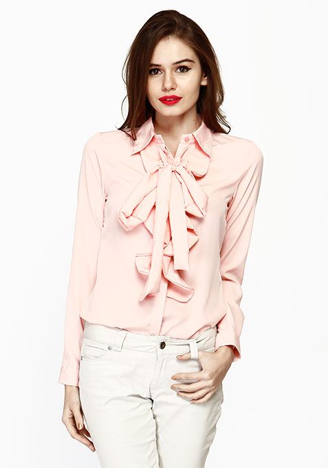 Ruffles Rave Shirt - Blush