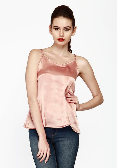 Cross My Back Cami - Pink