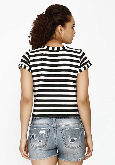 Boyfriend Crop Top - Stripes