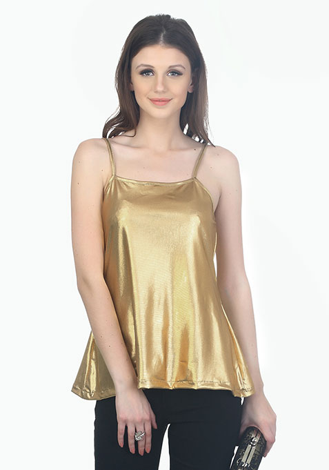Metallic Dreams Cami - Gold