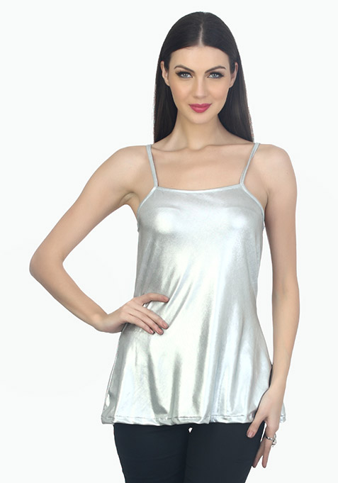 Metallic Dreams Cami - Silver
