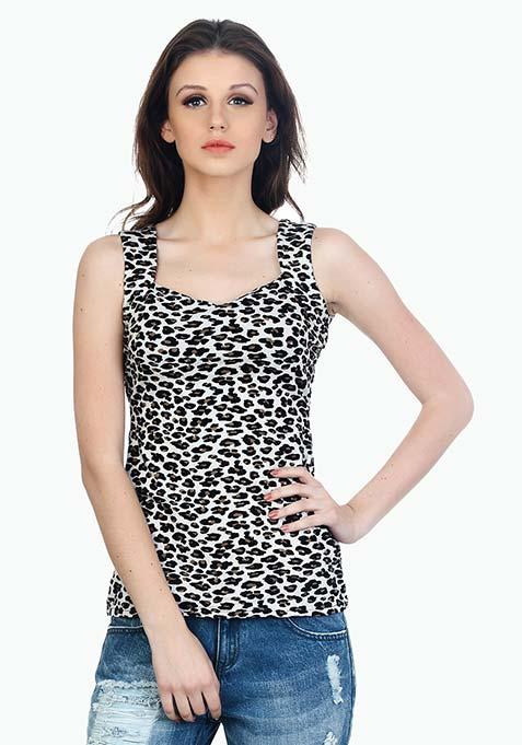Sweetheart Snare Tank - Leopard