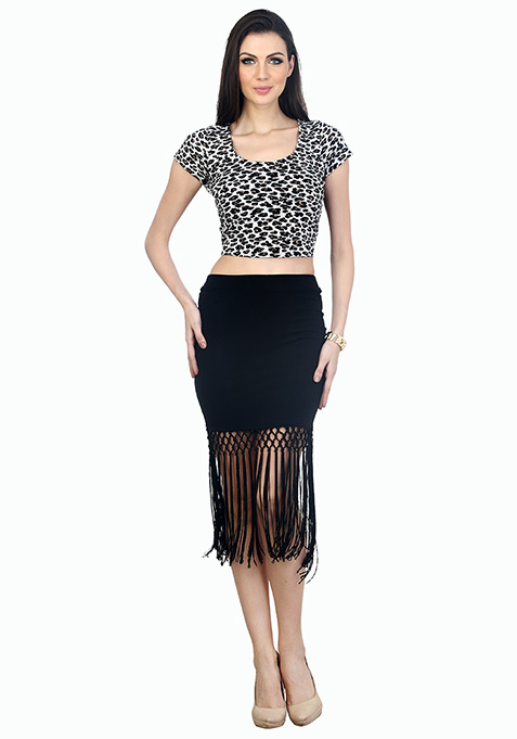 Sultry Leopard Crop Top