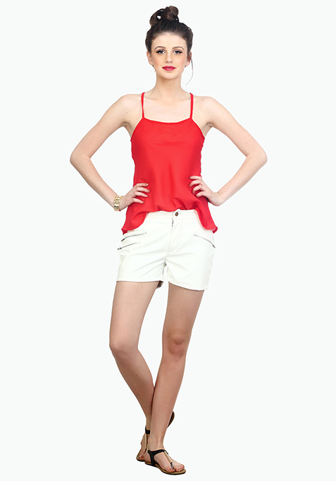 Cross Back Cami - Red