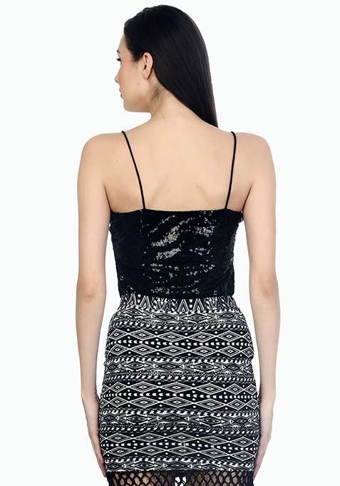 Starry Night Sequin Cami - Black