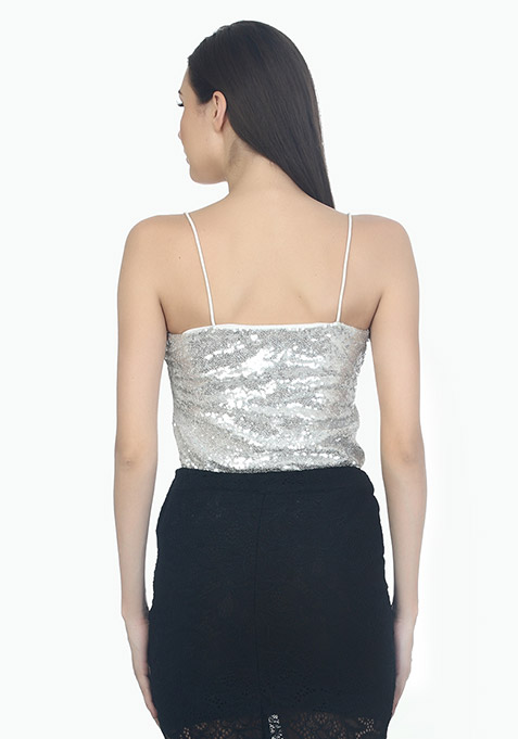 Starry Night Sequin Cami - Silver