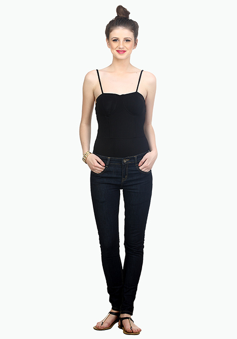 Basic Bish Black Bodysuit