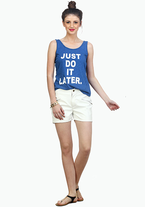 Do It Later Tank - Blue