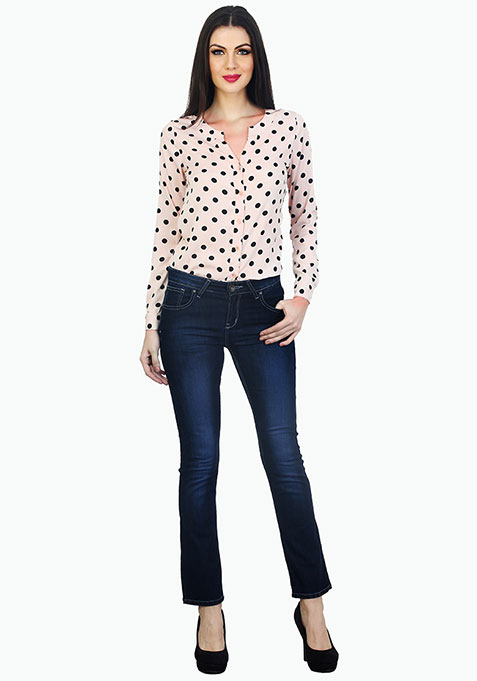 Connect The Dots Shirt - Nude