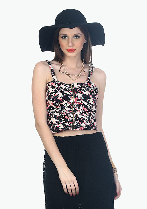 Flying Butterflies Crop Top