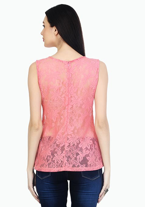 Pink Punch Lace Top