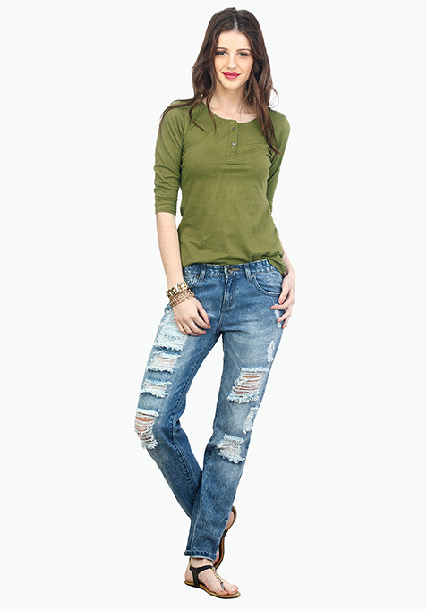 Military Mad Henley Tee