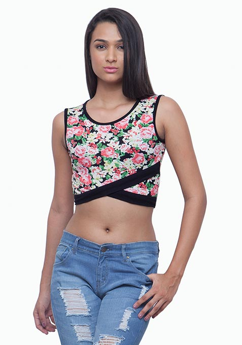 Rebel Crop Top - Floral