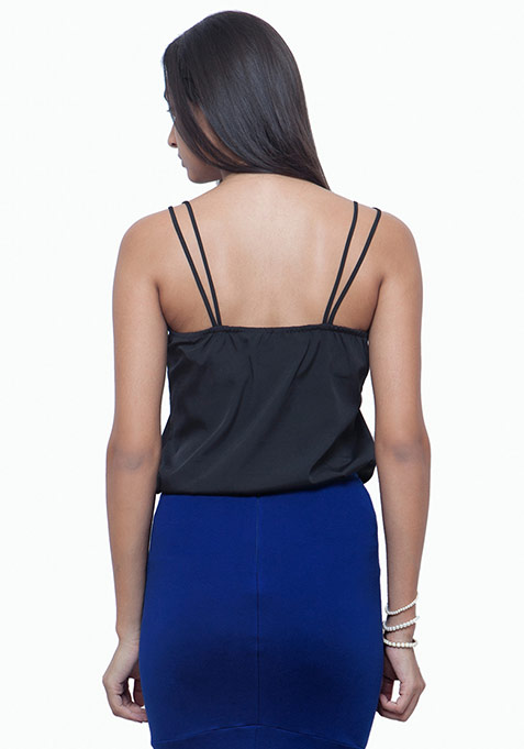 Dual Straps Cami - Black