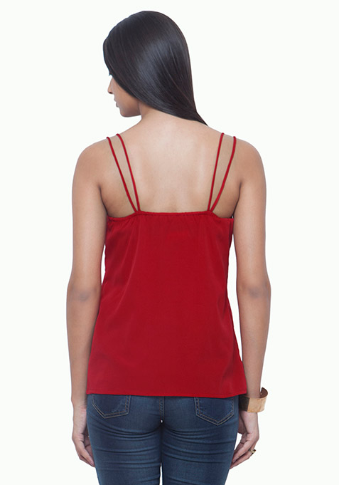 Dual Straps Cami - Red