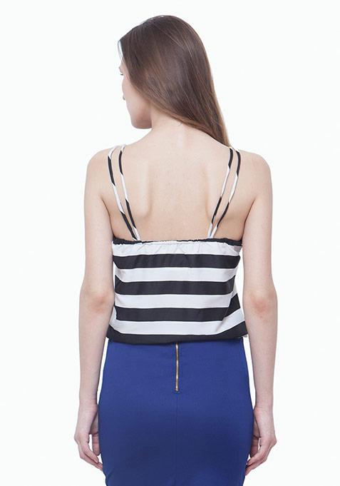 Dual Straps Cami - Black Stripes