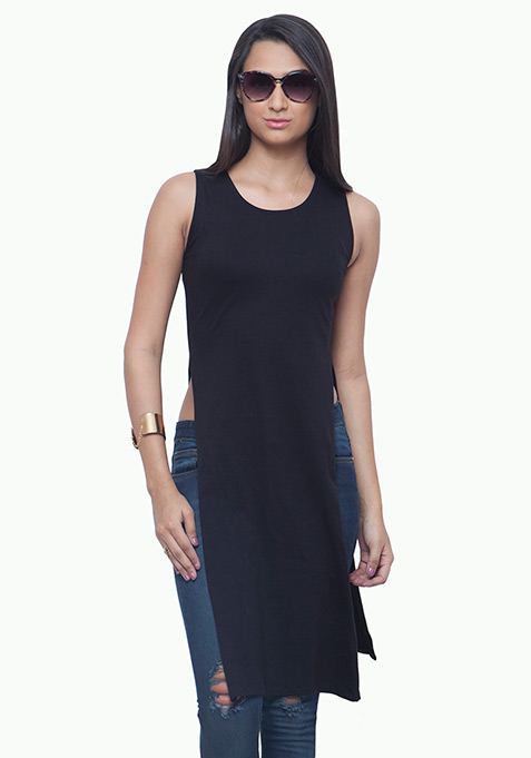 On Fleek Maxi Tunic - Black