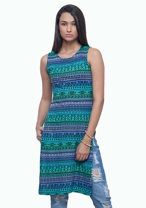 On Fleek Maxi Tunic - Aztec