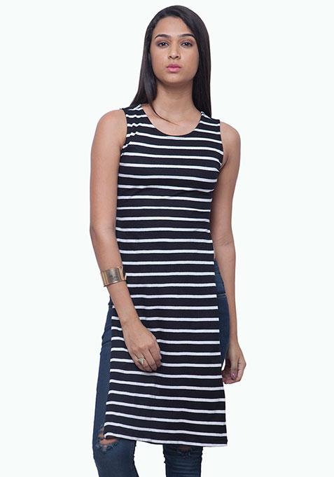 On Fleek Maxi Tunic - Stripes
