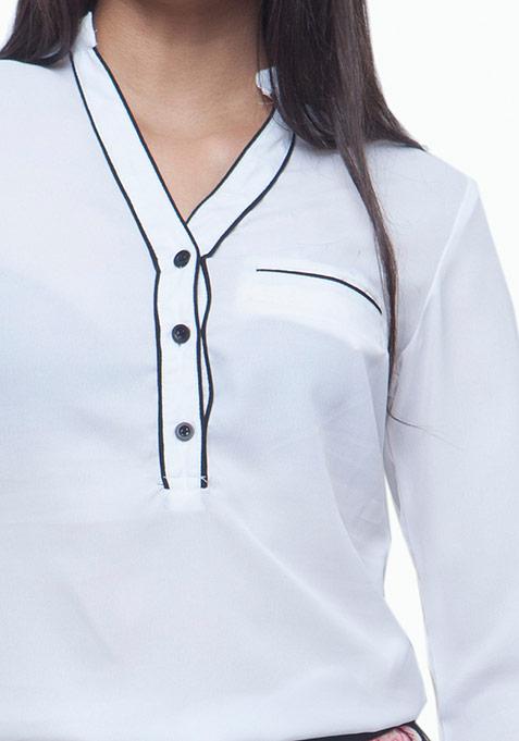 Piping Hot Shirt - White