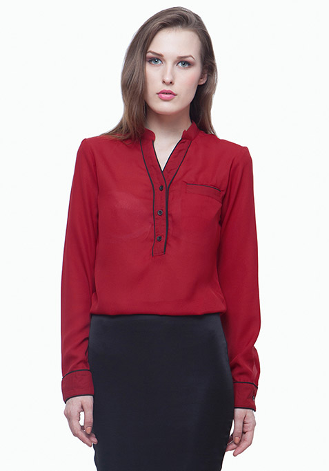 Piping Hot Shirt - Red