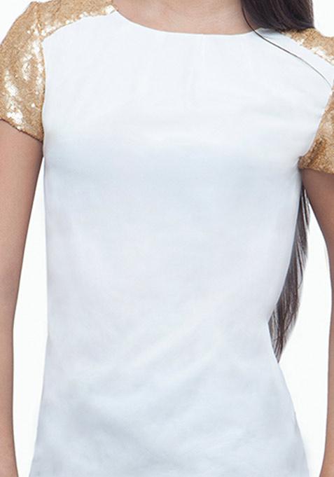 Sequin Starter Blouse - White