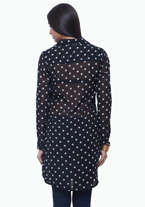 Polka Dot Maxi Shirt