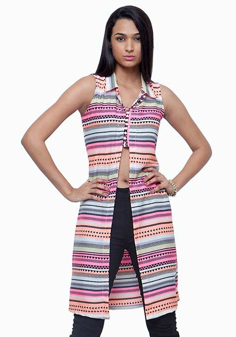 Cropped Maxi Tunic - Tribal