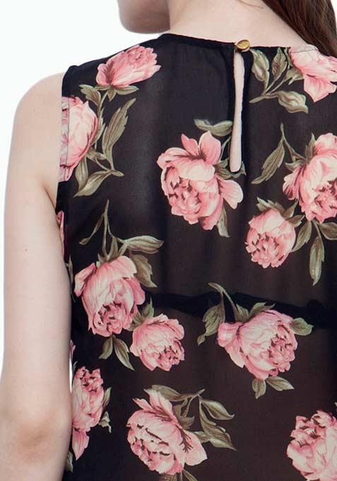 Wrap Maxi Blouse - Floral