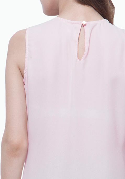 Wrap Maxi Blouse - Blush