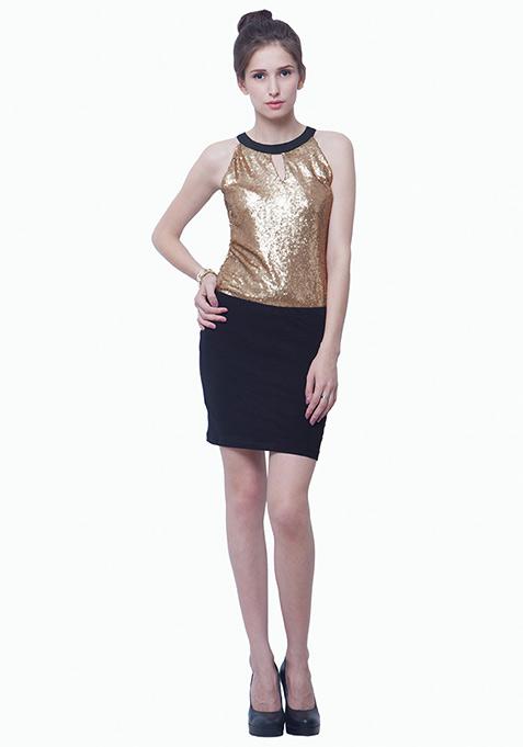 Sequin Sizzle Top - Copper