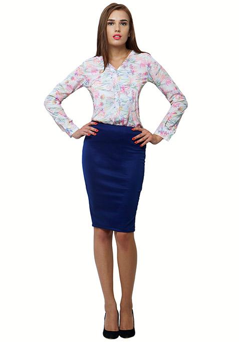 Floral Blur Shirt