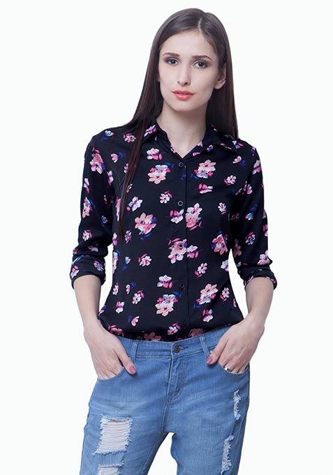Floral Fetish Shirt - Black