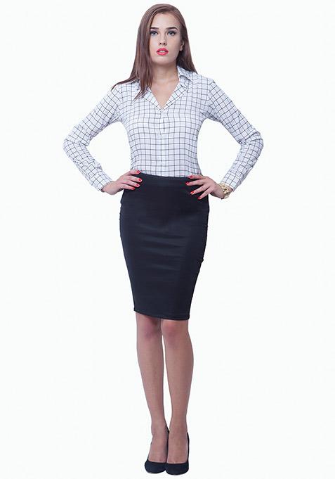 Grid Grind Shirt - White