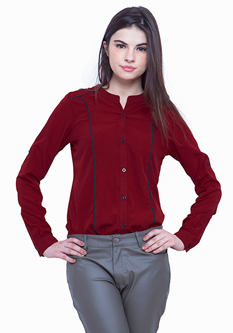 Pied Piper Shirt - Oxblood