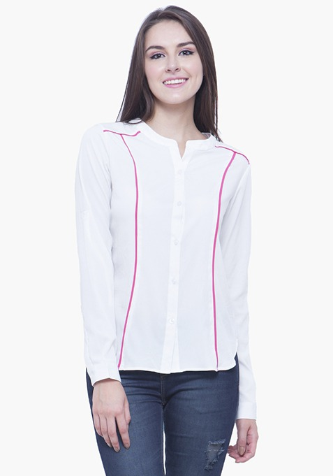 Pied Piper Shirt - White Pink