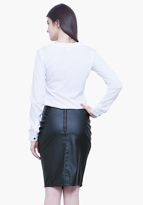 Sheer Lace Shirt - White
