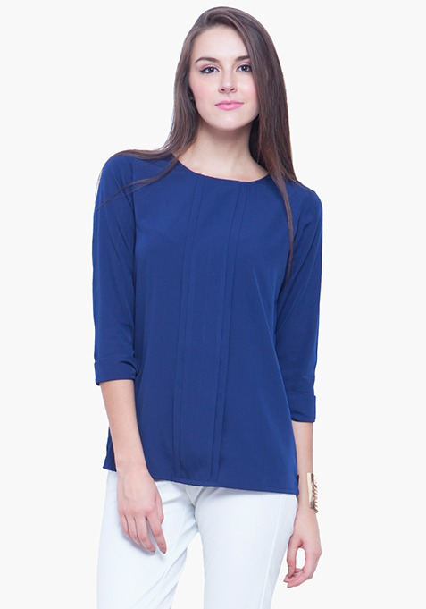 Pleat Please Blouse - Blue
