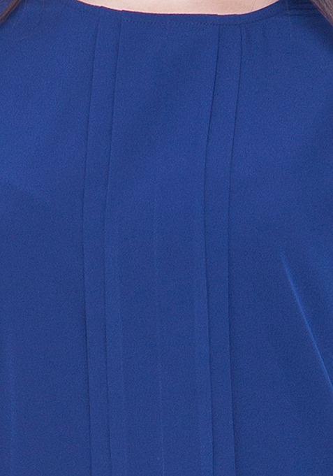 Pleat Please Blouse - Blue