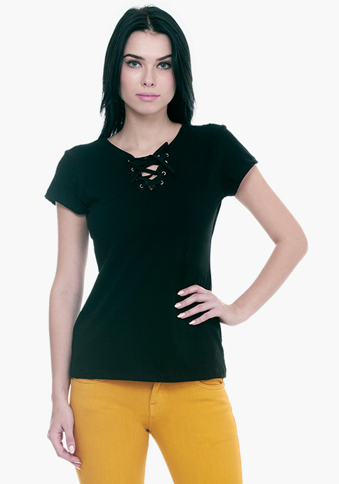 Tied Down Tee - Black