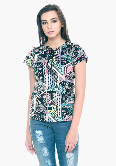 Tied Down Tee - Aztec
