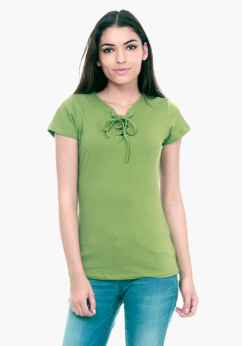 Tied Down Tee - Olive